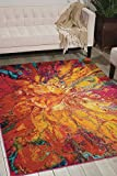 """Nourison Celestial Modern Bohemian Cayenne Multicolored Area Rug 3 Feet 11 Inches by 5 Feet 11 Inches, 3'11"""" x 5'11"""" Review"""