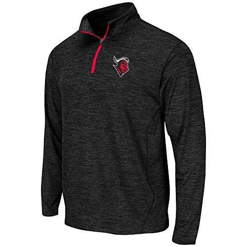Mens NCAA Rutgers Scarlet Knights Action Pass Long Sleeve Quarter Zip Tee Shirt - M