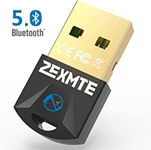 Micro Bluetooth 5.0 Adapter for PC,USB Bluetooth Dongle Wireless Transfer for Desktop Windows 10/8.1/8/7,Support Bluetooth Headphones Keyboard Mouse Speakers Printer