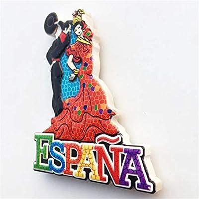 Weekino Souvenir Bailarina de Flamenco Barcelona España Imán de ...