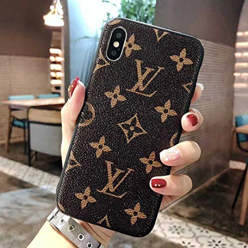 Vintage Monogram iPhone Xs Case, iPhone X Case, Brown Luxury TPU Case for iPhone Xs/iPhone X -US Fast Deliver