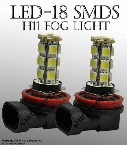 ICBEAMER 2個h11 18 5050 LEDチップfitfog電球のみ交換用交換ハロゲンランプ[カラースーパーホワイト] B07BH5ZHQW