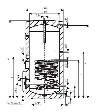 Sicherheitsventil 200 L Liter Warmwasserspeicher Standspeicher Elektrospeicher Keramikheizstab mit Trockenheizpatrone incl