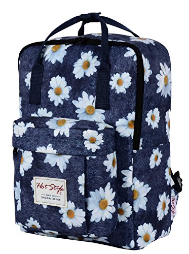 hotstyle-cute-convertible-backpack-with-daisy-print-waterproof-fits-14-laptop-blue