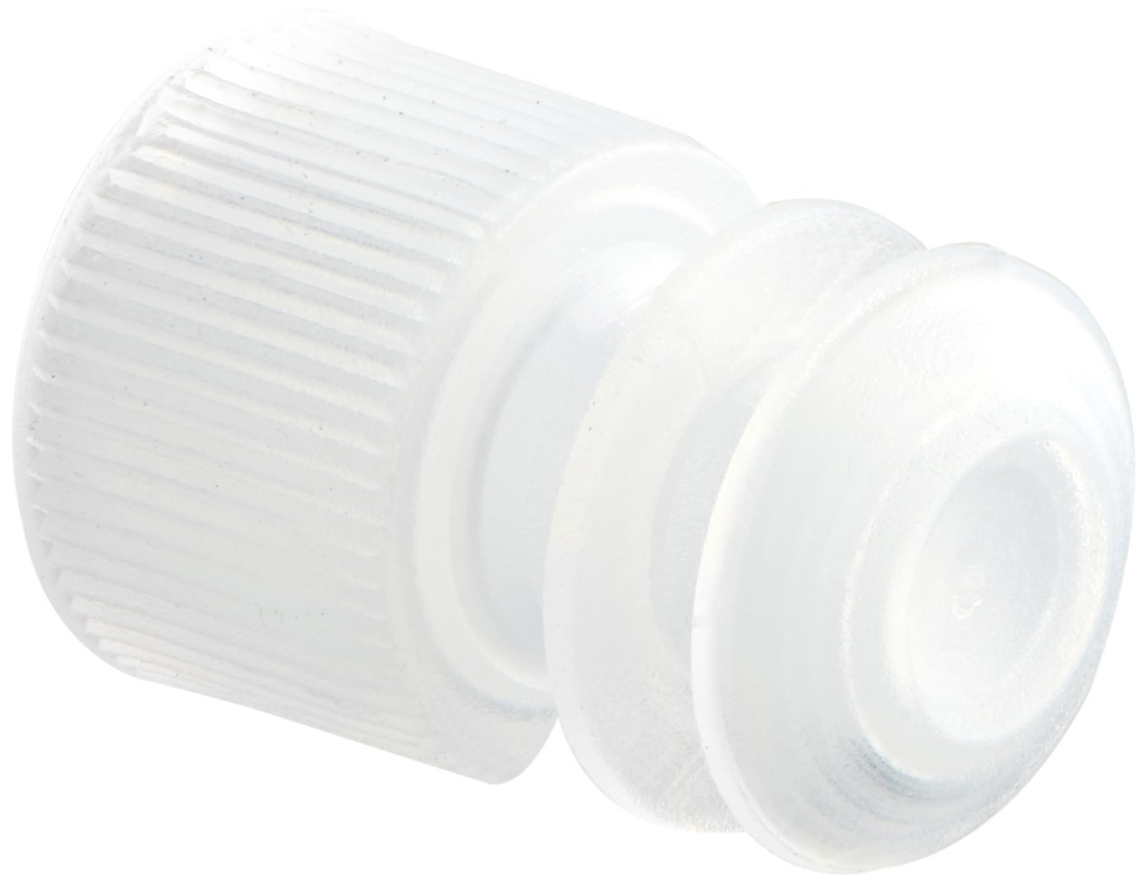 Globe Scientific 118127C Polyethylene Flange Plug Cap for Test Tubes, 12mm Size, Clear (Pack of 1000) by Globe Scientific