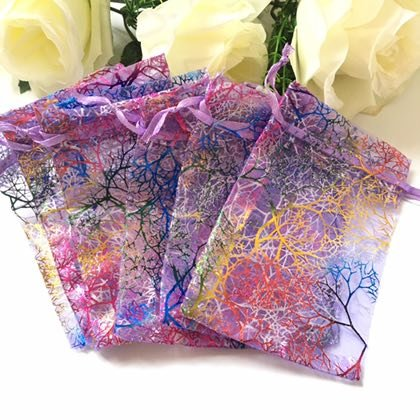 100pcs Purple 5x7'' inches Coralline Organza Wedding Party Favor Candy Gift Bags Jewelry Pouch ~ Cafolo
