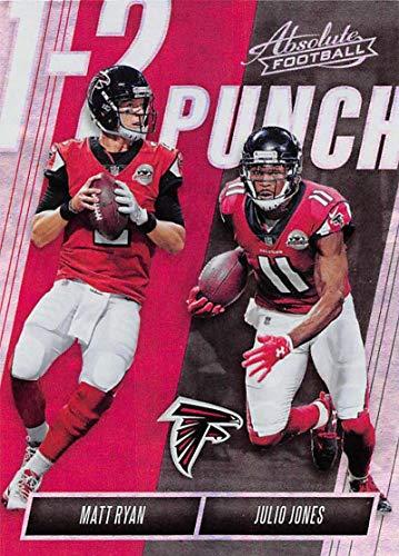 2018 Panini Absolute One Two Punch #5 Julio Jones/Matt Ryan Falcons Football Card