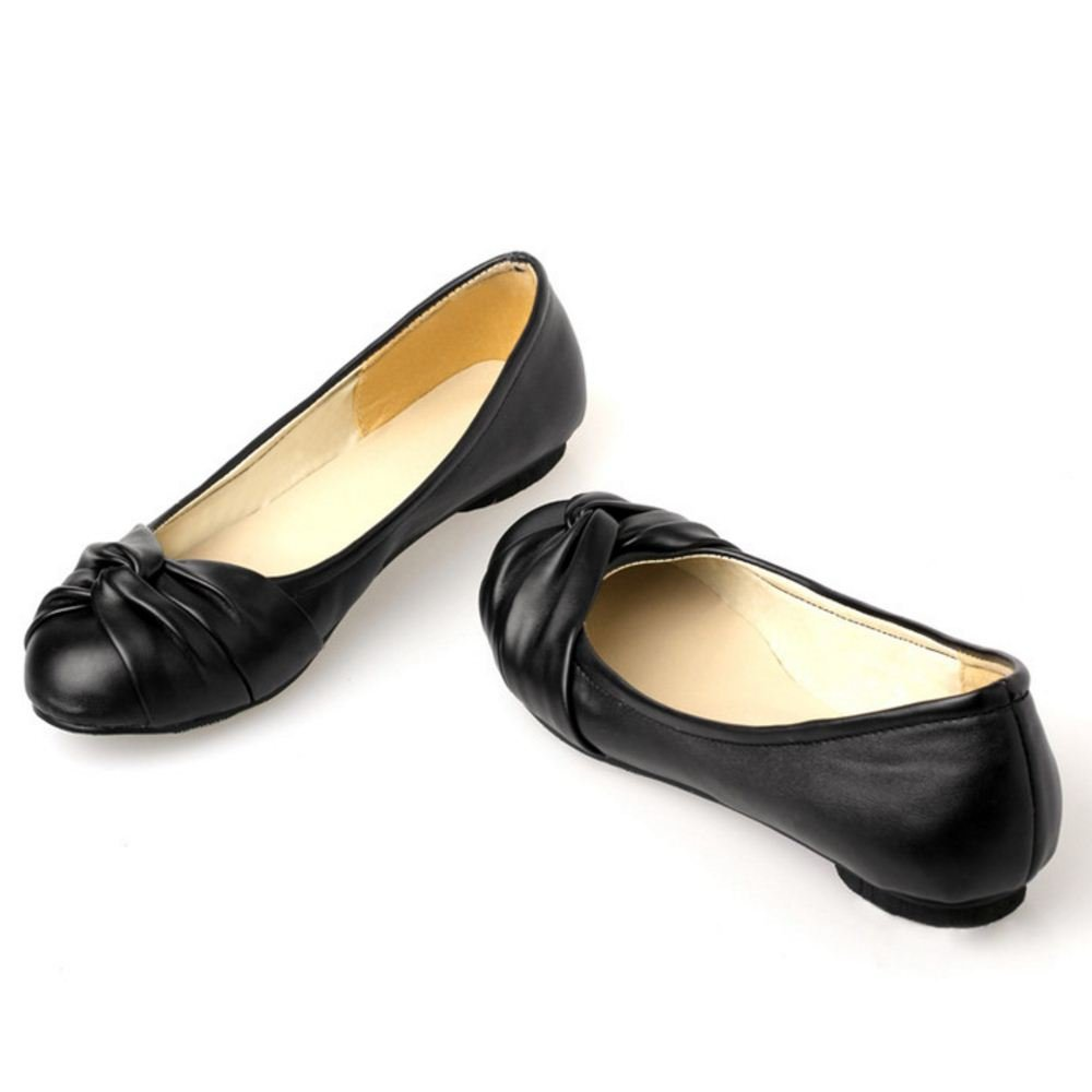 KemeKiss Women Simply Comfortable Slip On Ballet Shoes Casual Knotted Cute Flats B01MT7OWAP 7 B(M)US = 24 CM|Black