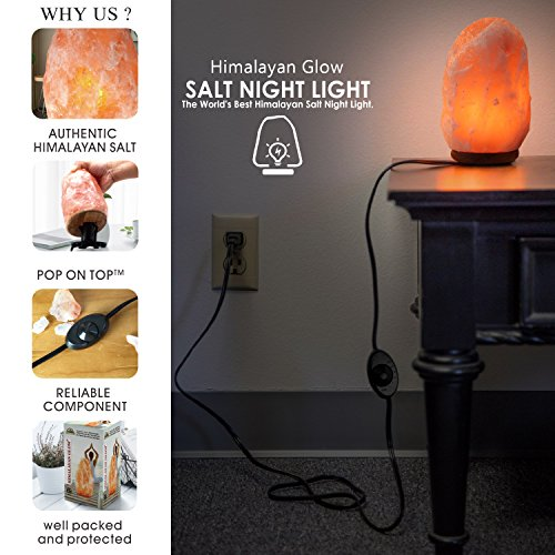 Himalayan Glow 1001 Salt Lamp, ETL Certified himalayan pink salt lamp, Home Décor Table lamps | 5-8 lbs by WBM by Himalayan Glow (Image #1)