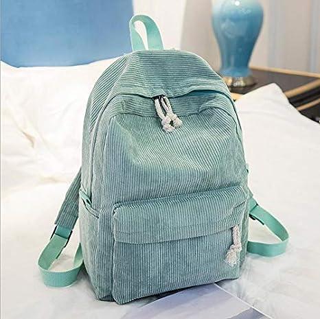 OneMoreT Preppy Style - Mochila de tela suave para mujer, diseño de pana, verde claro: Amazon.es: Instrumentos musicales