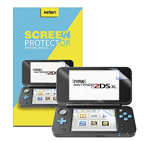 NEW Nintendo 2DS XL Screen Protector [6 PCS/3 Top , 3 Bottom ], Keten Full Coverage High Definition Screen Protector for Nintendo 2DS XL 2017 with Anti-scratch, Ultra-thin, Sensitive-Touch