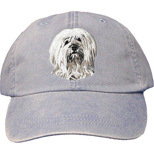 Tibetan Terrier Dog Breed - Cherrybrook Dog Breed Embroidered Adams Cotton Twill Caps - Periwinkle - Tibetan Terrier