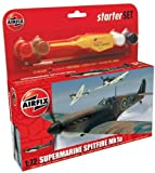 Airfix A50077 1:72 Scale Supermarine Spitfire Mk1A Military Air Power Gift Set inc Paints Glue and Brushes