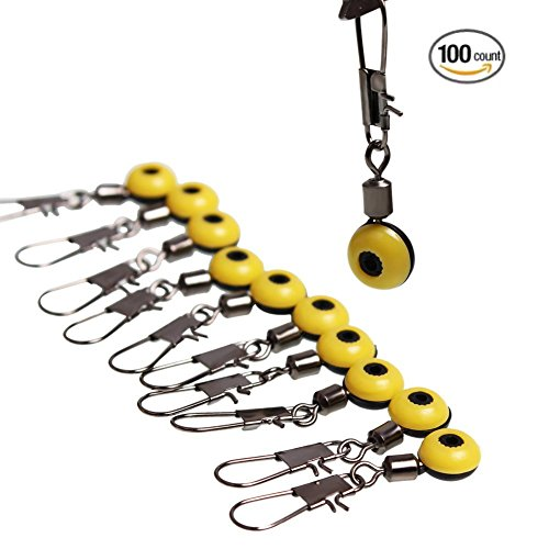 sougayilang-fishing-line-sinker-slides-hook-shank-clip-connector-swivels-pack-of-100pcs