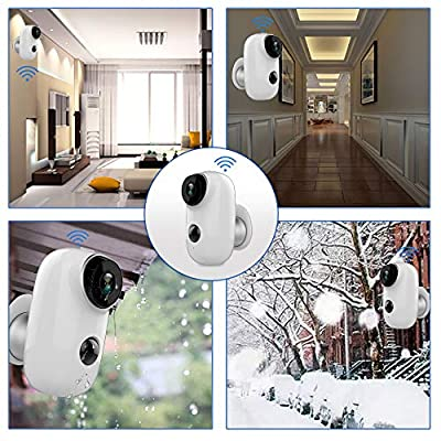 SDETER Outdoor Security Camera,Wireless 1080P Rechargeable Battery Powered Surveillance System,WIFI IP Hd Cctv Video House Monitor