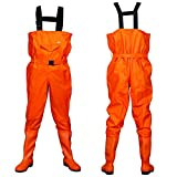 BESTHUNTINER NYLON/PVC CHEST WADERS&BOOT 100% WATERPROOF STRONG ANTI-SKID...
