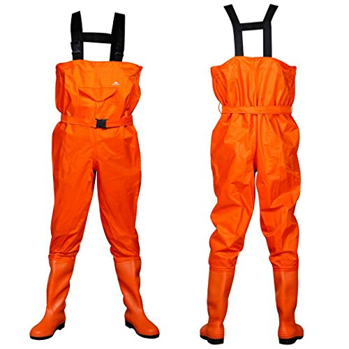 BESTHUNTINER NYLON/PVC CHEST WADERS&BOOT 100% WATERPROOF STRONG ANTI-SKID THICKED SOLE FISHING WADERS TWO COLOR ORANGE AND BROWN BOOT SIZE 7-13.