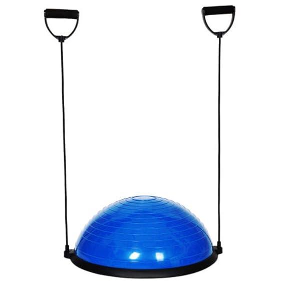 "23"" Blue Yoga Half Ball Balance Trainer Strength Fitness Exercise Gym w/Pump USA"