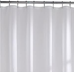 Carnation Home Fashions 10-Gauge Anti Mildew Shower Curtain Liner, Frosty Clear