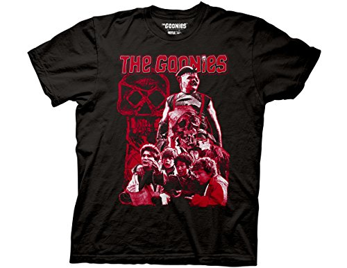 - Ripple Junction Goonies Limited Color Character Collage Adult T-Shirt 3XL Black