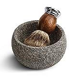 CHARMMAN Shaving Bowl for Men, Natural Granite