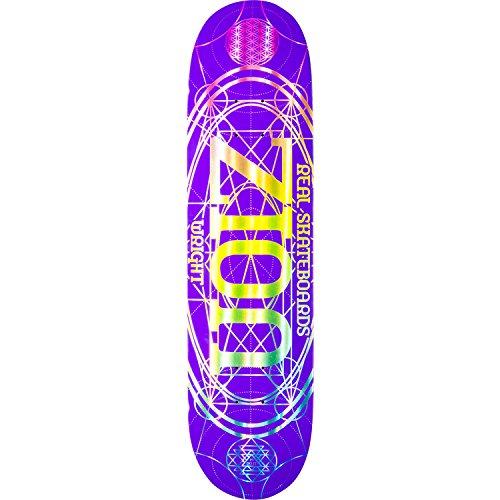 転倒アラーム運営Real Skateboards Zion Wright Pro Oval Purpleスケートボードデッキ – 8.06