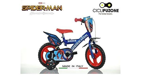 Bicicleta 12 Spiderman Homecoming Dino Bikes Made in Italy: Amazon ...