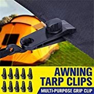 10pcs Fixed Plastic Clips for Outdoor Tent,Reinforced Windproof Tent Clips for Camping,Tarp Clips Awning Clamp