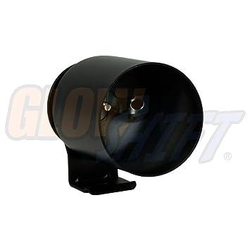 Gauge Under The Vehicles Dashboard 52mm Mounts GlowShift Universal Black Single Gauge Mounting Bracket Pod 1 Fits Any Make//Model 2-1//16