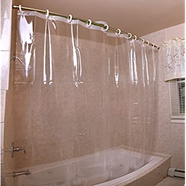 Mildew-Resistant Antibacterial Heavy-Duty Shower Curtain Liner - 72  x 72