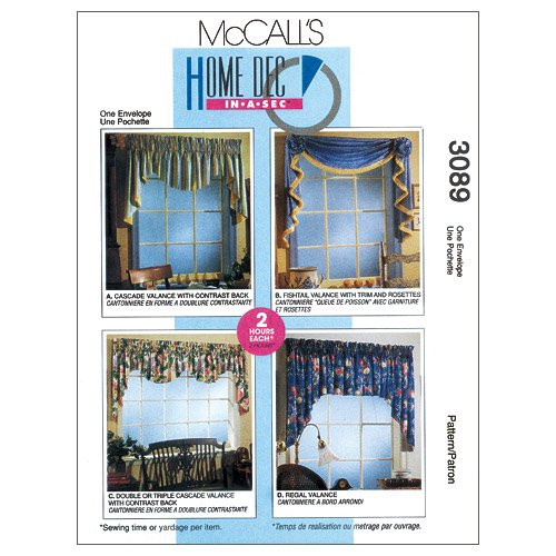 Window Valance Patterns - McCall's Patterns M3089 2 Hour Valance Classics