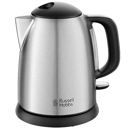 Russell Hobbs Adventure - Hervidor de agua eléctrico pequeño (2400 W, 1 litro, acero inoxidable, Gris) - ref. 24991-70