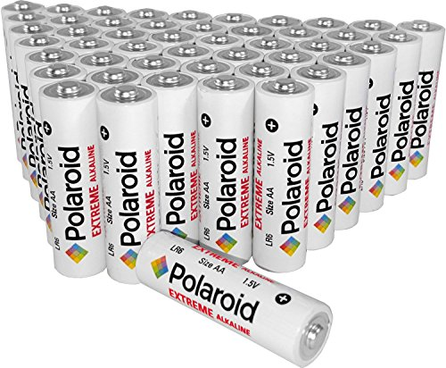 Polaroid Extreme Value AA Alkaline Batteries (48-Pack)