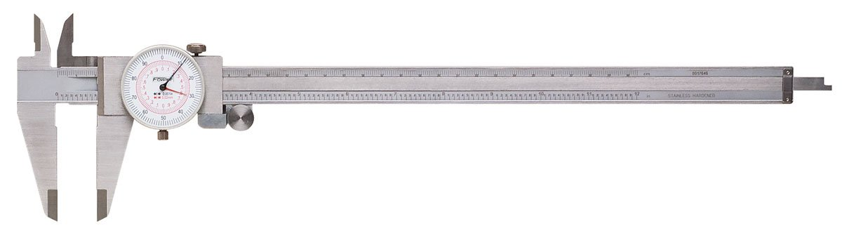 Fowler 52-030-012 Stainless Steel Inch/Metric Reading Dial Caliper, 12'' Maximum Measuring, 0.001'' Graduation Interval