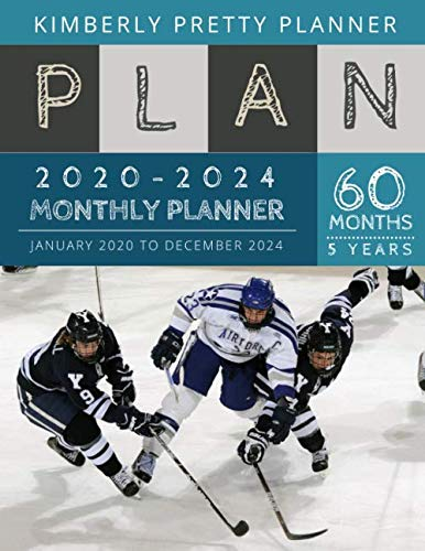 Promotion only $8.99 => $7.995 year monthly planner 2020-2024 : Monthly Schedule Organizer - Agenda Planner For The Next Five Years, 60 Months Calendar, Appointment Notebook Large Size | hockey agility design This five year monthly planner 2020-20...