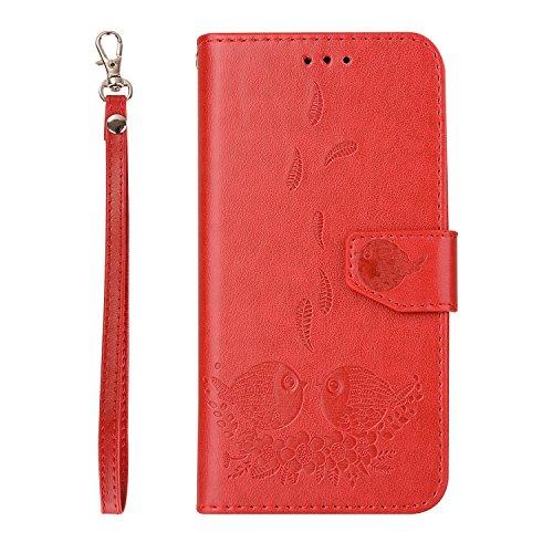 exquis de fente de red Samsung support relief SM carte motifs en avec téléphone magnétique Wallet cuir cas avec protection Flip fermeture Hozor Galaxy PU G920F pour étui S6 dgqfRRpP