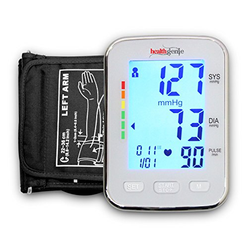 Healthgenie Digital Upper Arm Blood Pressure Monitor (BP Monitor) BPM04KBL Fully Automatic