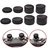 VizGiz 8PCS Enhanced Height Rubber Silicone Cap Thumbstick Thumb Stick Cover Case Skin Joystick Grip Grips For PlayStation 4 PS PS4 Wireless Controller Black