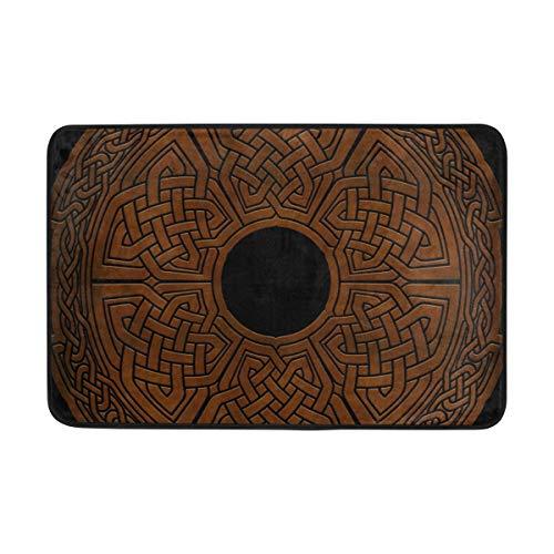 Doormat Celtic Viking Norse Bath Rugs- Non Slip Entrance Rug Welcome Door Mats, HCMusic 23.6x15.7