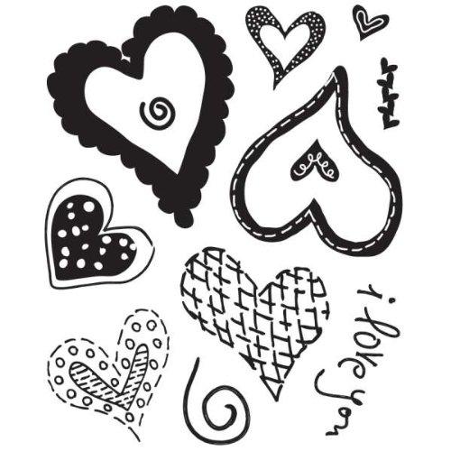 Basic Grey Sugar Rush Clear Self-Cling Bitsy Stamp-Heartthrob