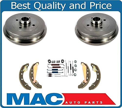 Volkswagen Brake Drum - Mac Auto Parts 15673 Volkswagen Cabrio Jetta Golf (2) Rear Brake Drums & Brake Shoes & Springs