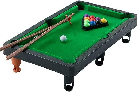 1PC Mini Mesa Pool Grupo Pequeño Juegos De Billar Incluye Juego De ...