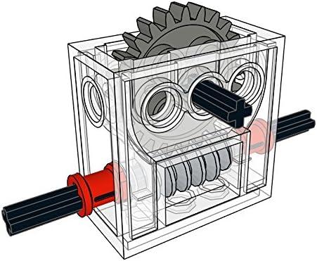 LEGO Getriebe Box transparent Trans-Clear Technic Gearbox 3x4x1 2//3 46217c01