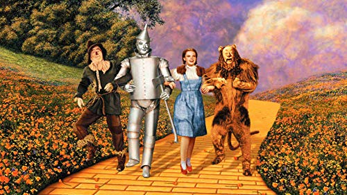(The Wizard Of Oz Dorothy The Cowardly Lion Tin Man Scarecrow Edible Cake Topper Image ABPID15047 - 1/4 sheet)