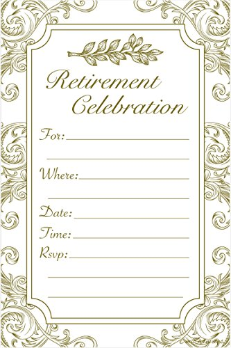(Retirement Party Invitations - Fill In Style (20 Count) With Envelopes)