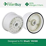 2 - Shark NV400 HEPA Filters, Part # XHF400. Designed by FilterBuy to fit Shark Rotator Professional Upright Vacuum Cleaner Models NV400 & NV402.