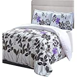 Utopia Bedding Printed Duvet Cover Set with 2 Pillow shams (King, Floral)