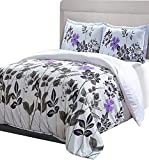 Utopia Bedding Printed Duvet Cover Set with 2 Pillow Shams (Queen, Floral)