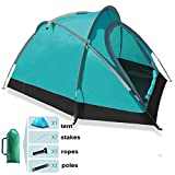 Lightweight Backpacking Tents 2 Person for Hiking Camping Fishing Waterproof for 3 Seasons