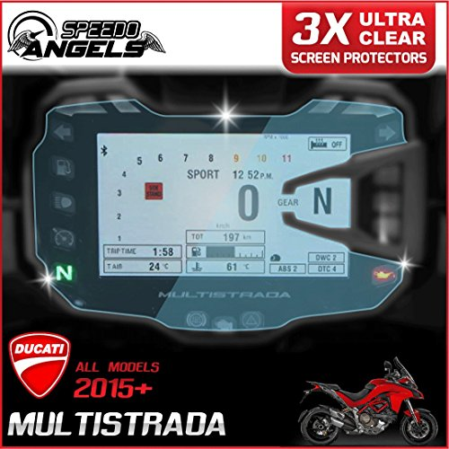 3 x Ducati Multistrada 950/1200/1260 2015> Dashboard/Instrument Cluster screen protector - Ultra-Clear